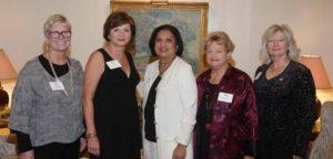 Women at Work Advisory Committee: Maggie Whalen, Vera Teller (Secretary) Uma Shrivastava (President) Marsha Rood (Past President), Melinda Carmichael (VP and Treasurer). Not pictured: Barbara Matinoff