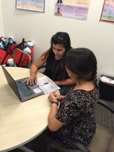 Foothill Family Case Manager with a client.