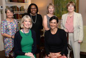 Members of PCHF Board - seated: Tara Westman, President, Deborah Silver; standing: Lorna Miler, Charmayne Mills Ealy, Sheila Thornton, Gloria Pitzer, Treasurer