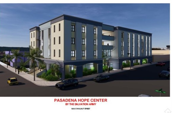 Pasadena Community Foundation pledged $350,000 for The Salvation Army's Hope Center project.