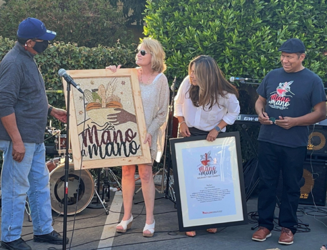 Pasadena Community Foundation receives a unique gift from artist Ramiro Vega and the Pasadena National Day Laborers' Organizing Network.