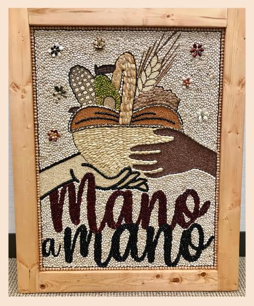 Mano a Mano artwork by Ramiro Vega, presented to the Pasadena Community Foundation